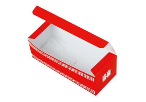 ランタン印中華まんレンジ折箱(中面 白) ワンタッチ