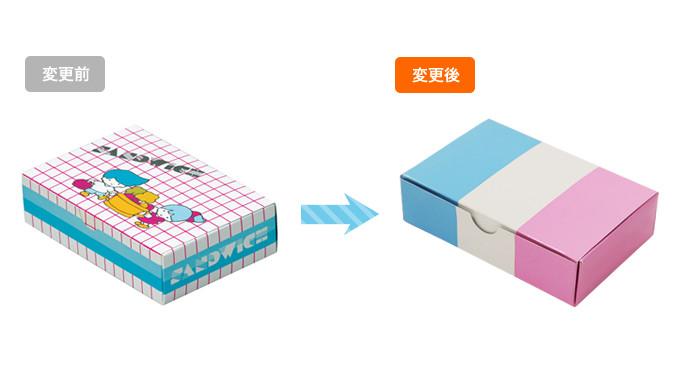 お客様のご要望に応えた既成紙箱のデザイン変更